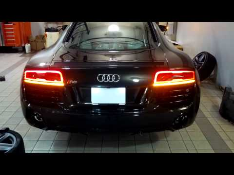 North American Audi R8 Post-Facelift European Taillight Installation...