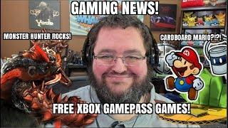 GAMING NEWS: Nintendo Goes Cardboard, Monster Hunter ROCKS, Free Gamepass Games