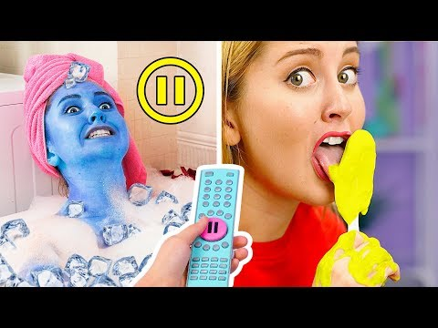 BEST PAUSE CHALLENGE! Funny  Pranks! || Pause Challenge For 24 Hours By 123 GO! Challenge