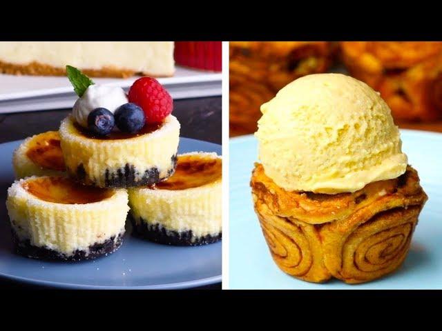 6 Clever Dessert Mashup Recipes   Smores Baked Alaska & Oreo Crème Brûlée Cheesecake   So Yummy