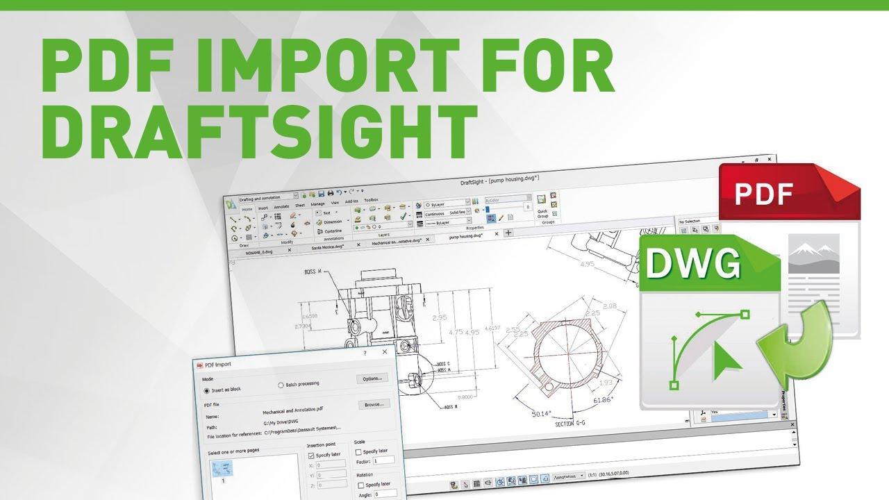 PDF Import for DraftSight