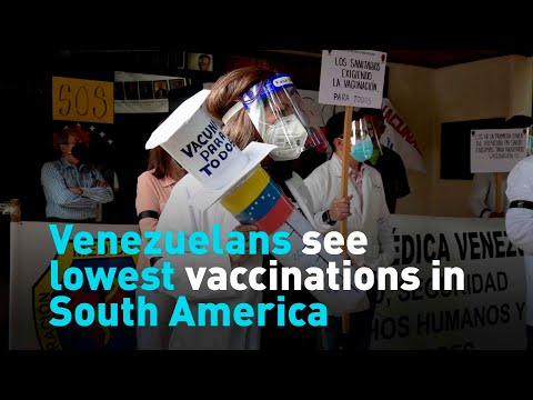 Venezuelans see lowest vaccinations in South America