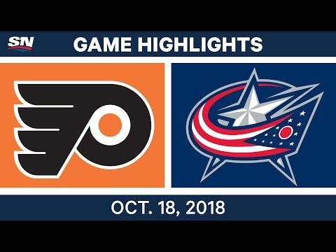 NHL Highlights | Flyers vs. Blue Jackets - Oct. 18, 2018