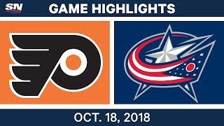 NHL Highlights | Flyers vs. Blue Jackets - Oct. 18, 2018