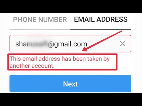 Instagram Fix This Email Address Has Been Taken By Another Account | Sign Up Create Account Problem