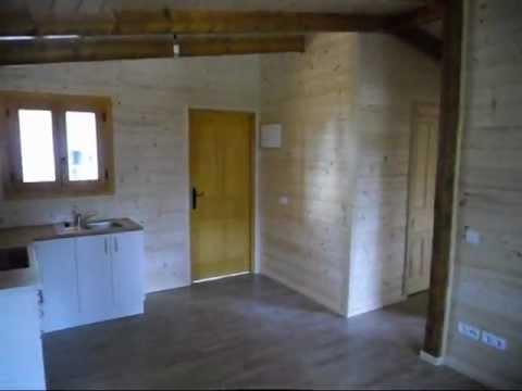 Casa de madera prefabricada standard 40 b youtube - Interiores de casas prefabricadas ...