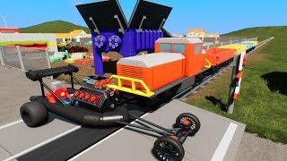MASSIVE LEGO Train Wrecks #33 - Brick Rigs Gameplay - Lego Toy Destruction