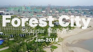 Forest City 森林城市 - Progress as 06 Jan 2018 (Malaysia Biggest, Largest and Fastest Project)