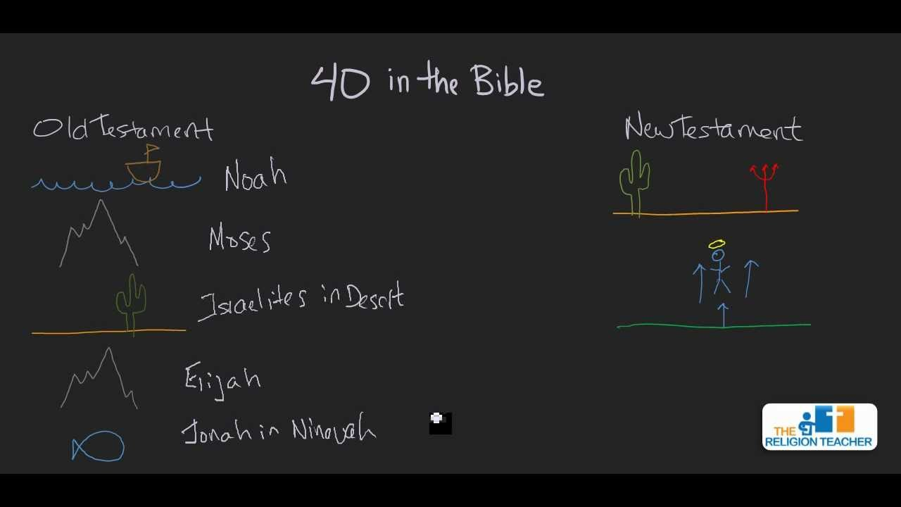 the number 40 in the bible and lent youtube