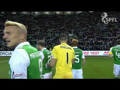 Hibs fans sing Sunshine on Leith after derby win