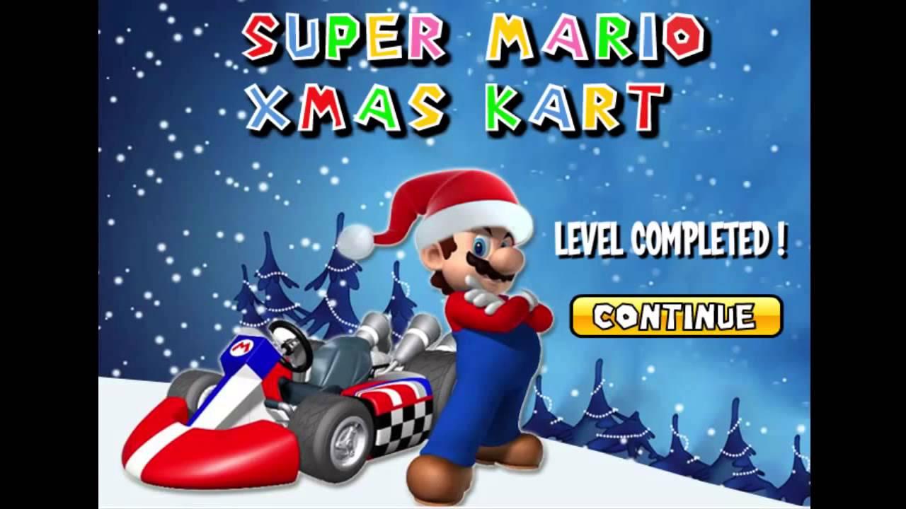 Christmas Mario Kart.Christmas Party Games For Kids Super Mario Xmas Kart Video Tutorial Xmas Event