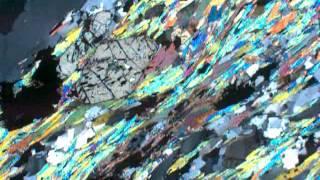 Staurolite mica schist (XP)