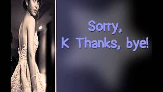 vuclip Kathryn Bernardo - K Tnx Bye (Lyric Video)