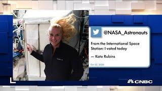 NASA astronaut casts her ballot on ISS