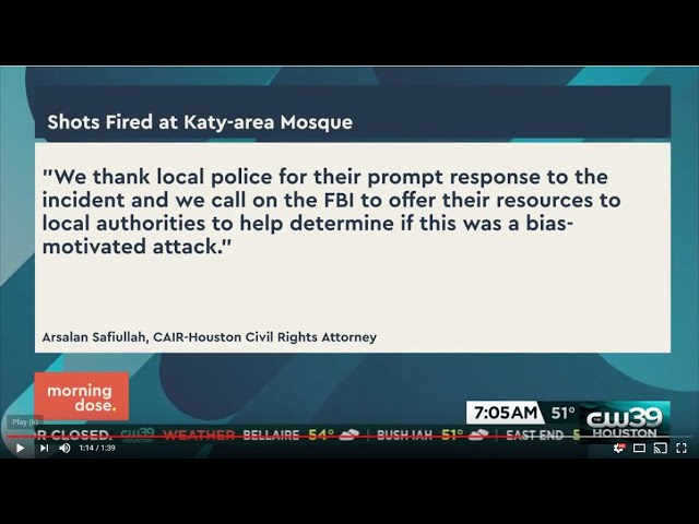 Video: CAIR-Houston Calls for FBI Probe of Shooting Targeting Texas Mosque