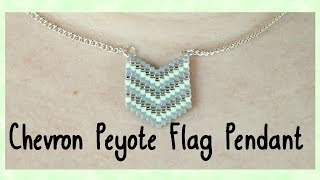 DIY Peyote Chevron Flag Pendant Tutorial // Bead Weaving // ¦ The Corner of Craft