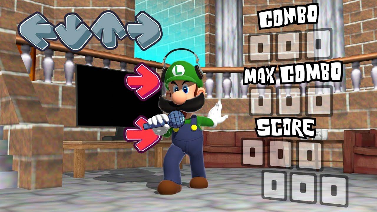 Luigi Friday Night Funkin VR Concept Animation