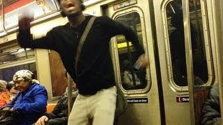 Crazy Singing and Dancing on the Train -  New York City Subway