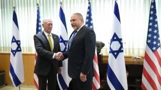 Israeli Defense Minister Lieberman meets U.S. Secretary of Defense Mattis