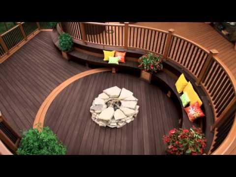 Trex Decking Designs - YouTube