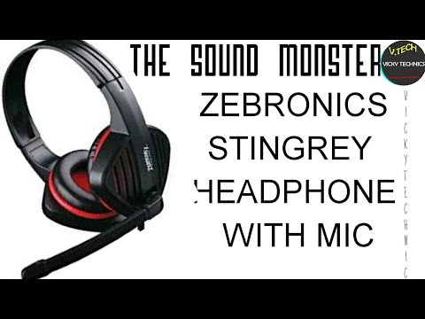 ZEBRONICS STINGREY HEADPHONE WITH MIC#THE SOUND MONSTER@Multimedia Gaming Headphone With mic$$