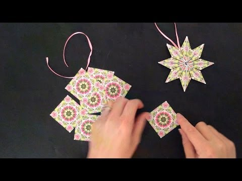 folded paper ornaments Get creative when you use this easy quilted fabric star christmas ornament pattern customize the fabric ornaments for any holiday or event.