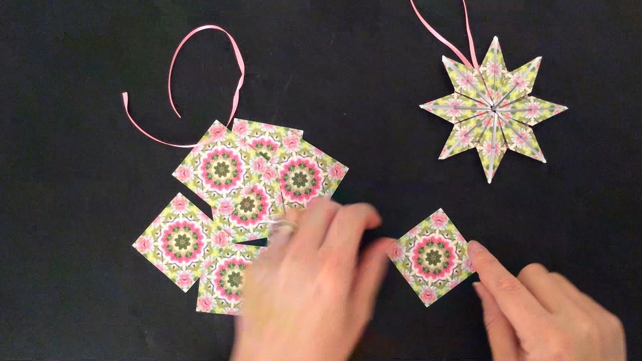 PAPER STAR ORNAMENT TEABAG FOLDING TUTORIAL - YouTube