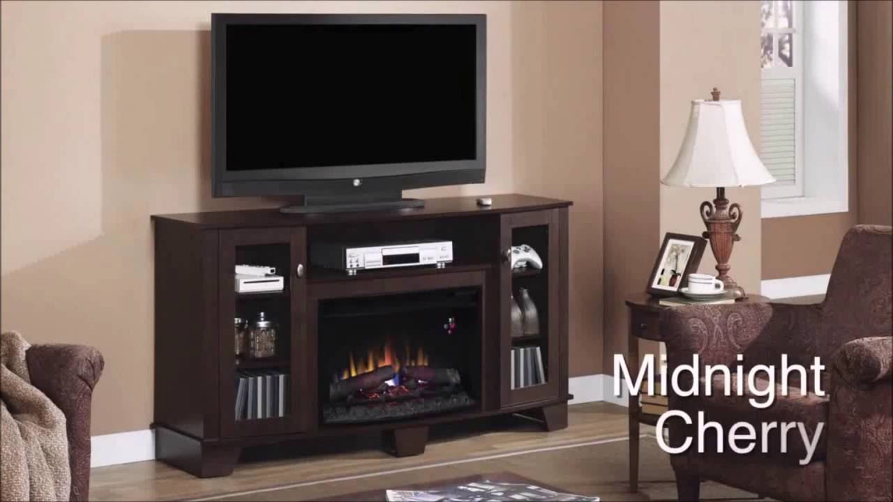 La Salle Fireplace Midnight Cherry Electric Fireplace - YouTube