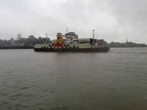 Crossing The River Thames On The Woolwich Ferry