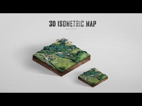 Photoshop 3D Isometric Map Manipulation Tutorial