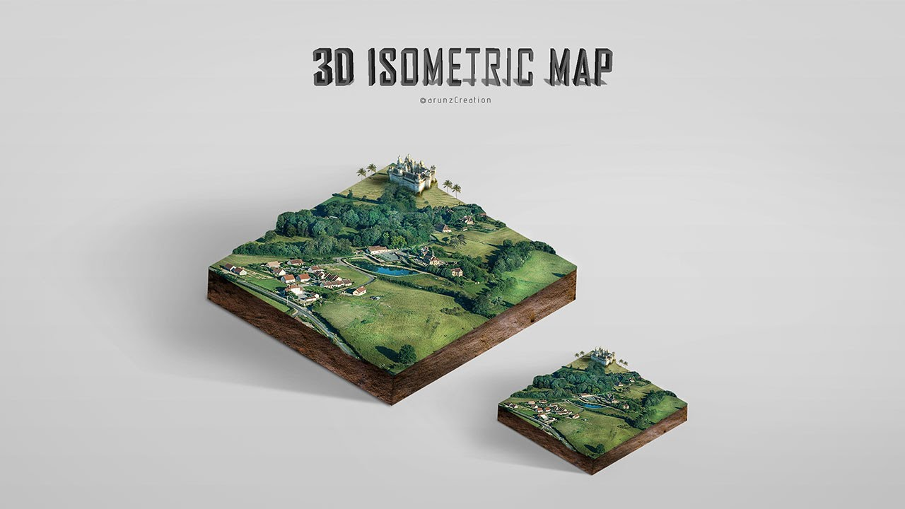 Photoshop 3D Isometric Map Manipulation Tutorial YouTube