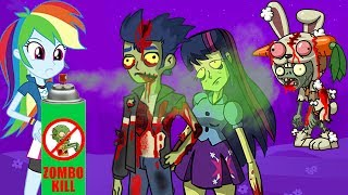 Zombie Apocalypse Horrible Zombie Rabbit - Cartoon for adults