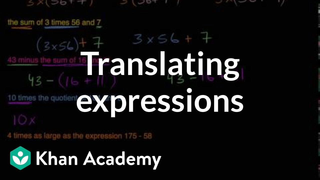 Translating expressions with parentheses (video) | Khan Academy