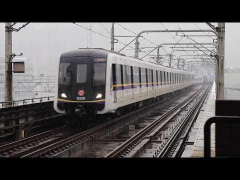 【1080P】Rare Scene! Shanghai Metro operating in heavy snow 大雪の上海を走る地下鉄の電車たち!大雪中的上海地鐵列車!