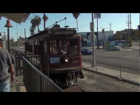 """The Port of Los Angeles Waterfront Red Car Line """"The Trolley"""""""