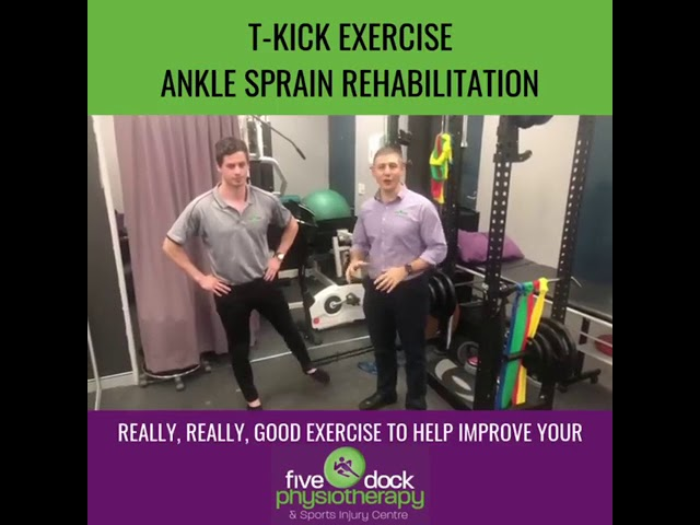 Sustained and ankle injury Learn a great rehab exercise