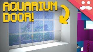 Making an AQUARIUM DOOR in Minecraft 1.13!
