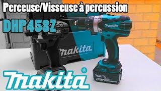 Perceuse à percussion / Visseuse MAKITA DHP458Z : TEST et présentation (pack DLX2145TJ)