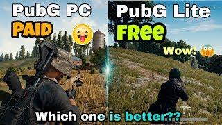 PubG PC Vs PubG PC Lite Live Comparison in Hindi | Graphics