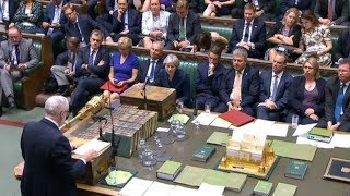 Theresa May and Jeremy Corbyn face each other at Prime Minister\'s Questions | ITV News