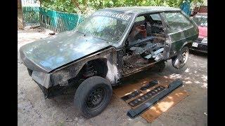 Восстановление кузова ВАЗ 2108. Замена порогов.