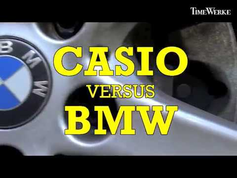 Casio G - Shock Torture Test: Casio G-Shock GA-700 rolled over by a BMW