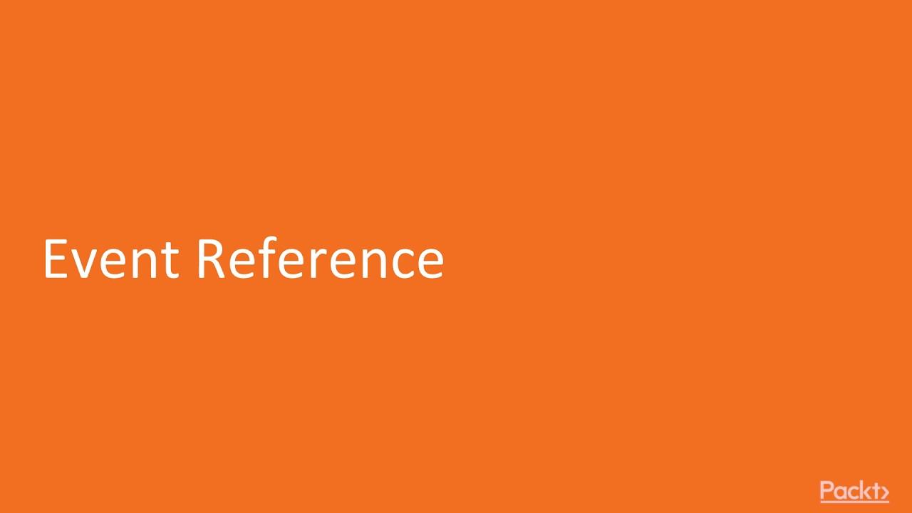 Complete Salesforce Lightning Application Development: Event Reference |  packtpub com