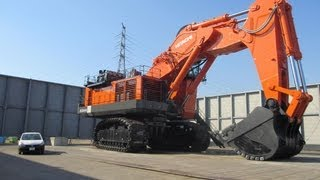 世界最大級の油圧ショベル日立建機EX8000(2012.10.21) thumbnail
