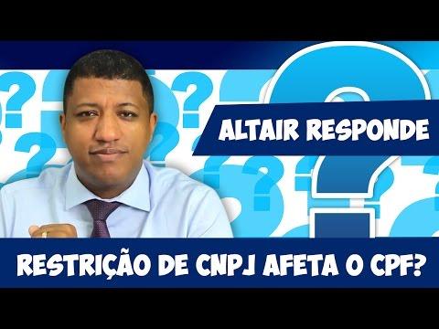 Restrição no CNPJ x Restrição CPF  | A Pendência no CNPJ Afeta o CPF | Altair Responde