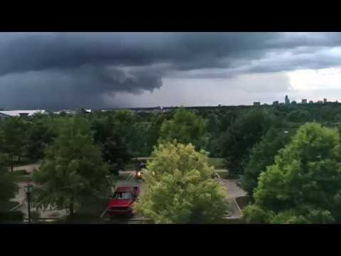 Time Lapse of a Storm Rolling into Austin Texas