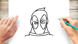 How To Draw Deadpool Face Youtube