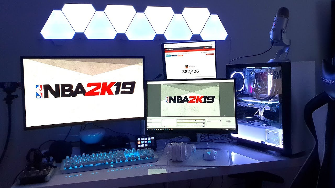 MY $10,000 NBA 2K19 GAMING SETUP TOUR