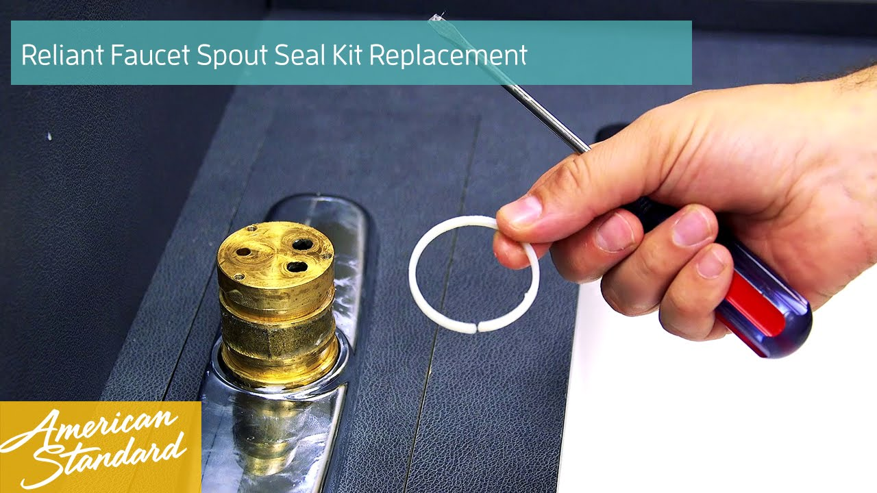 How to Replace the Spout Seal Kit for your Reliant Faucet - YouTube