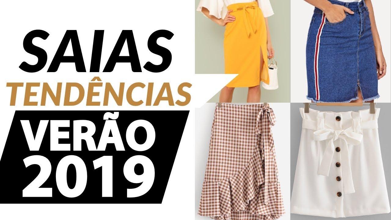 b9f077fdc4 TENDÊNCIAS VERÃO 2019 + 100 SAIAS